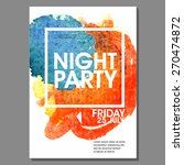 Night Party Vector Flyer...