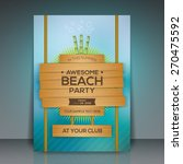Summer Beach Party Flyer Desig...