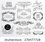 set of calligraphic and floral... | Shutterstock .eps vector #270477728