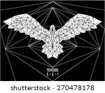 abstract polygonal bird.... | Shutterstock .eps vector #270478178