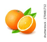 orange and slice isolated on... | Shutterstock .eps vector #270481712