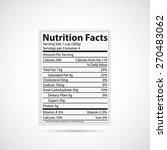 illustration of a nutrition... | Shutterstock . vector #270483062