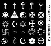 25 religious icons set | Shutterstock .eps vector #270485726