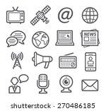 media icons | Shutterstock .eps vector #270486185