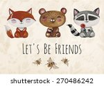 vector lovely cute ... | Shutterstock .eps vector #270486242