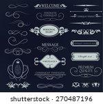 set of calligraphic elements... | Shutterstock .eps vector #270487196