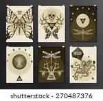 set of poster  flyer  brochure... | Shutterstock .eps vector #270487376