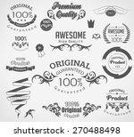 set of calligraphic elements... | Shutterstock .eps vector #270488498