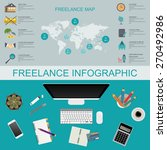 freelance infographic template. ... | Shutterstock .eps vector #270492986
