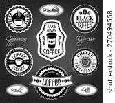coffee labels collection and... | Shutterstock .eps vector #270494558