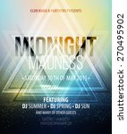 midnight madness party.... | Shutterstock .eps vector #270495902