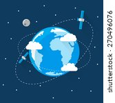 blue earth in space icon trendy ... | Shutterstock .eps vector #270496076