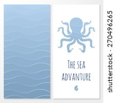 vector banner with nautical... | Shutterstock .eps vector #270496265