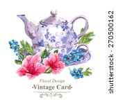 invitation vintage card with... | Shutterstock .eps vector #270500162