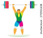 professional man weightlifter...   Shutterstock .eps vector #270501638