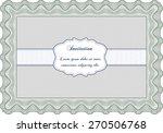 green invitation template | Shutterstock .eps vector #270506768