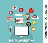 digital marketing  vector... | Shutterstock .eps vector #270507608
