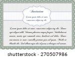 green invitation template | Shutterstock .eps vector #270507986