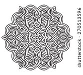 ethnic fractal mandala. vector...   Shutterstock .eps vector #270513596