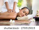 spa massage outdoor  balinese... | Shutterstock . vector #270515015