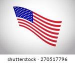 american flag vector. vector... | Shutterstock .eps vector #270517796