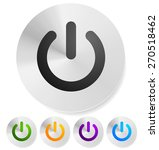 icon  button with power symbol. ... | Shutterstock .eps vector #270518462
