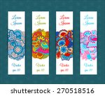 set of web banners with floral... | Shutterstock .eps vector #270518516