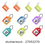 vector set of tags | Shutterstock .eps vector #27052270