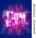 vector firm service words on... | Shutterstock .eps vector #270526238