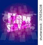 vector firm service words on... | Shutterstock .eps vector #270526238