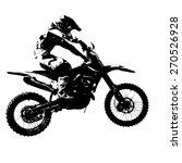 rider participates motocross...   Shutterstock .eps vector #270526928