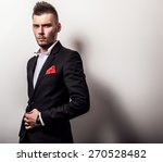 elegant young handsome serious... | Shutterstock . vector #270528482