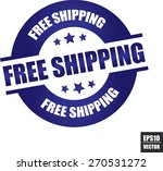 free shipping rubber stamp with ... | Shutterstock .eps vector #270531272