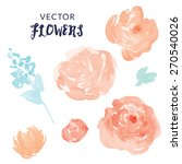 orange vector flowers.... | Shutterstock .eps vector #270540026