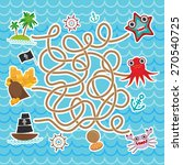 sea animals  boats pirates.... | Shutterstock .eps vector #270540725