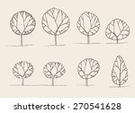 trees sketch set  vintage... | Shutterstock .eps vector #270541628