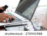 close up of business man hand... | Shutterstock . vector #270541988