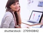 portrait of attractive female... | Shutterstock . vector #270543842