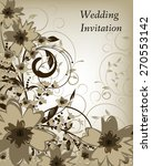wedding invitation card.... | Shutterstock .eps vector #270553142