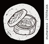 dumpling doodle | Shutterstock . vector #270556166