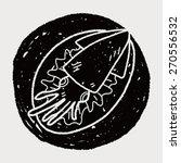 squid food doodle | Shutterstock . vector #270556532