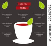menu template with tea concept.  | Shutterstock .eps vector #270567032