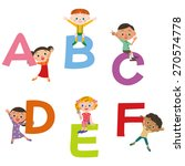 the alphabet and children | Shutterstock .eps vector #270574778