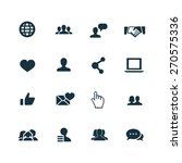 social media icons set on white ... | Shutterstock . vector #270575336