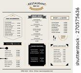 restaurant menu design template ... | Shutterstock .eps vector #270575636