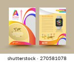 vector brochure template design ... | Shutterstock .eps vector #270581078