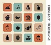 fruit icon set   Shutterstock .eps vector #270590885