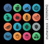 fruit icon set | Shutterstock .eps vector #270590942
