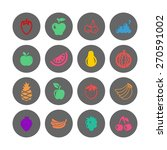 fruit icon set | Shutterstock .eps vector #270591002