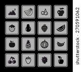 fruit icon set | Shutterstock .eps vector #270591062